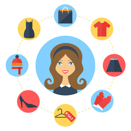 character illustration: Shopping concept with character illustration