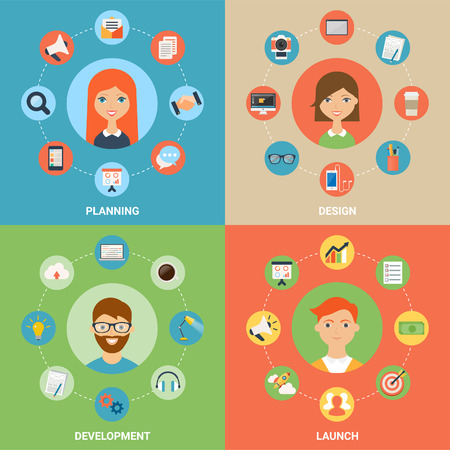 illustration for web Modern flat style Vector