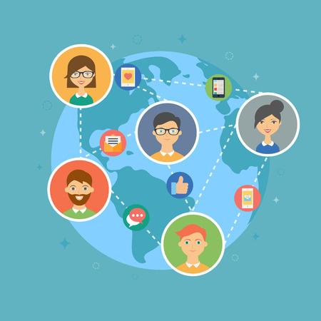 Social media marketing concept illustration Vettoriali
