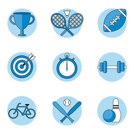 Sport icons set, outline style Vector