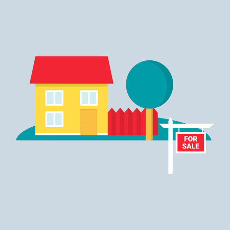 Real estate. Vector illustration, flat style Vector