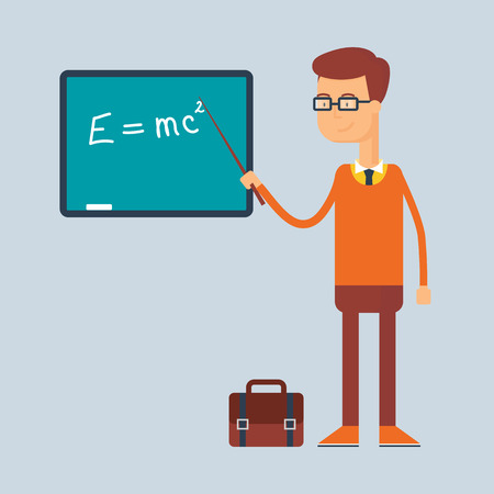 Character - teacher, education concept. Vector illustration, flat style Ilustrace