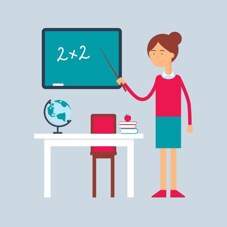 Character - teacher, education concept. Vector illustration, flat style Illustration