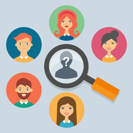 recruit: Human resources concepts, vector illustration Illustration