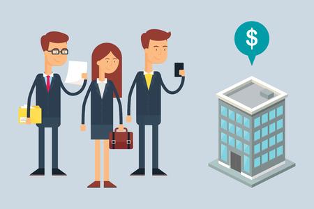 business team: Illustration of business team.