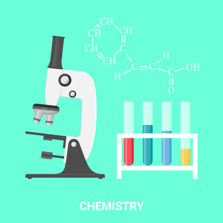 organics: Chemistry concept, vector illustration