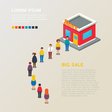 Big sale. Vector illustration, isometric style Vector