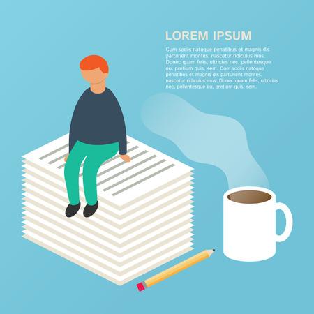 copywriting: Copywriting, writing, advertisement concept, vector illustration