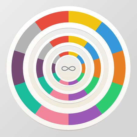segmented: Segmented circle diagram Illustration