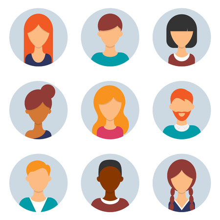 Set van avatars