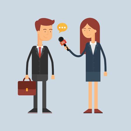 Interview vector illustratie