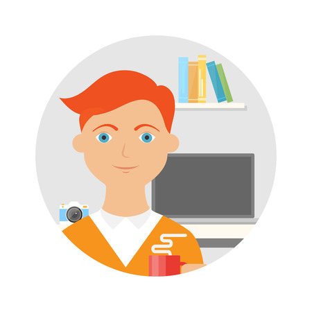 workday: Employee vector illustration
