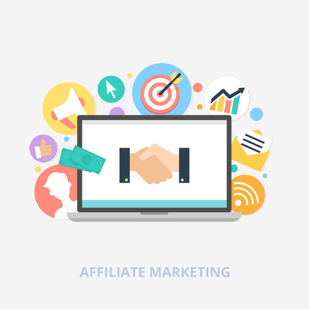 Affiliate marketing concept vector illustration Çizim