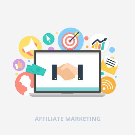marketing concept: Affiliate marketing concept vector illustration Illustration