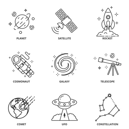 pulsar: Space vector icons set