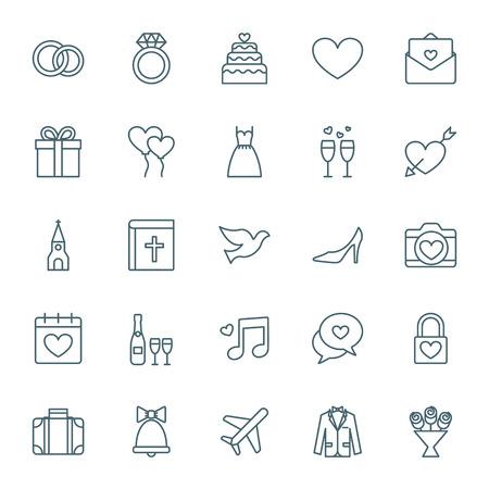 zestaw ikon ślubne