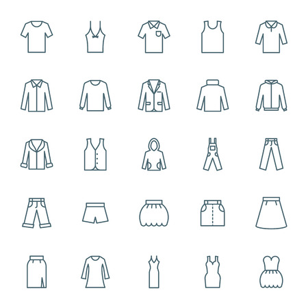 Clothes icons set Illustration