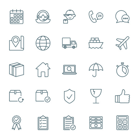 shipping: Logistics and shipping icons set