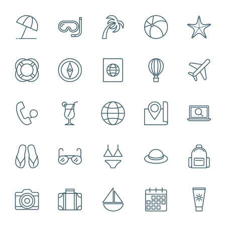 icons set: Travel and vacation icons set