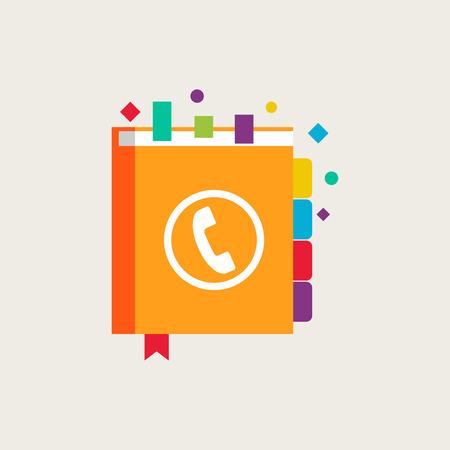 phone book: Phone book vector illustration
