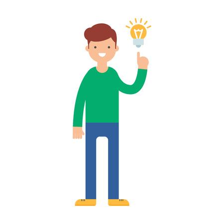 got: A man have got an idea vector illustration Illustration