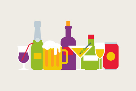 alcohol drinks: Alcohol drinks vector illustration