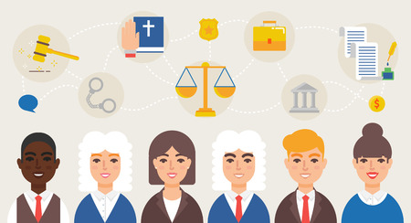 advocates: Advocates lawyers judges vector illustration Illustration