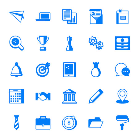 Office and business vector icons set