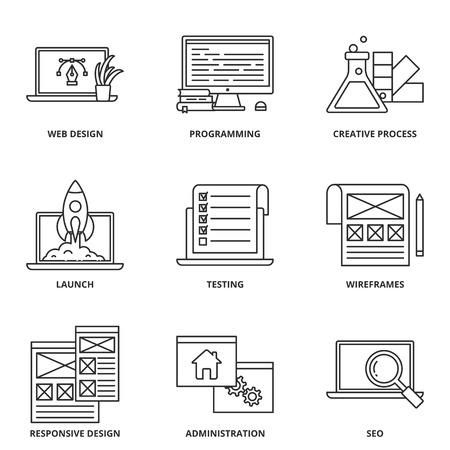 web development: Web development icons set