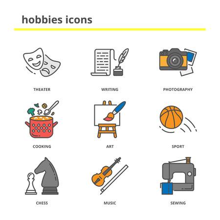 hobbies: Hobbies icons set