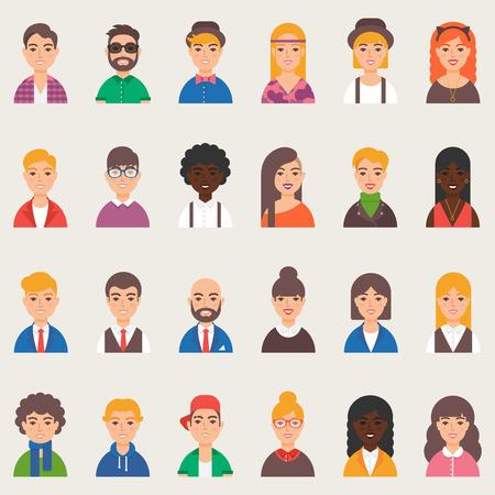 Set of avatars illustration flat style
