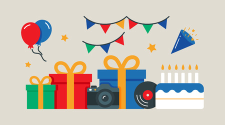 event party: Party, birthday, event vector illustration flat style Illustration