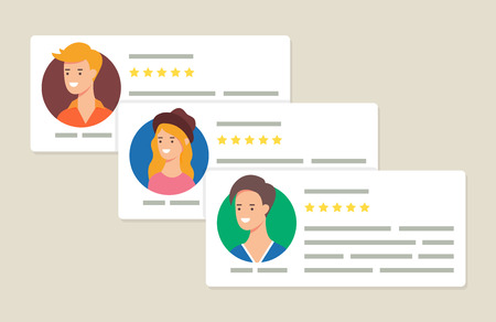 User reviews and feedback concept vector illustration