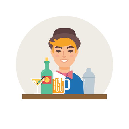 small business: Small business - bar vector illustration flat style