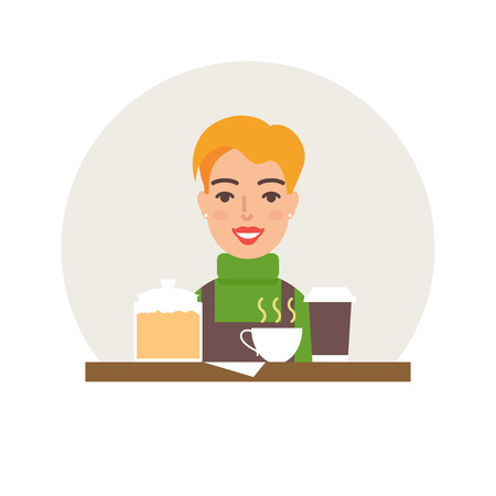 small business: Small business - coffee shop vector illustration flat style