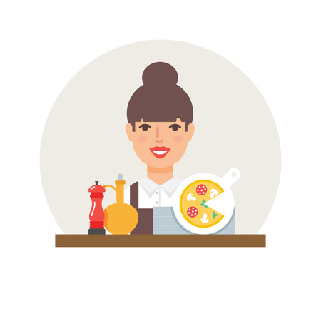 small business: Small business - pizzeria vector illustration flat style