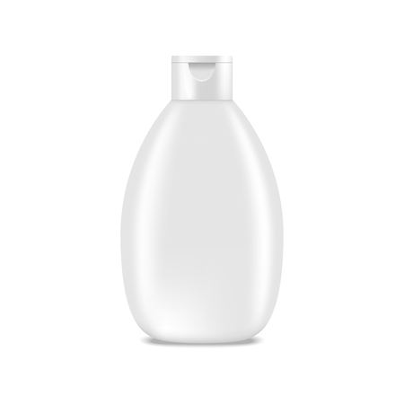 female animal: Shampoo, lotion bottle. Mock up, cosmetic package