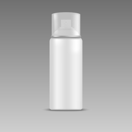 spray bottle: White blank spray bottle with cap. Mock up, cosmetic package