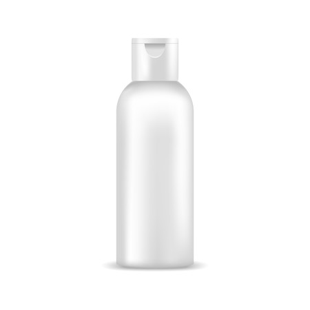 grey hair: Cosmetic bottle of cream, shampoo, gel, lotion. Mock up, cosmetic package