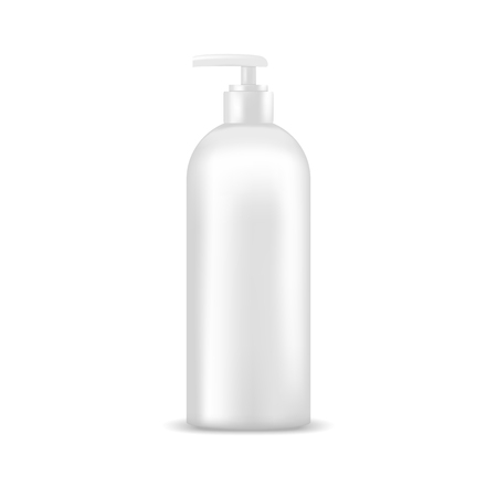 mock up: Cosmetic bottle with dispenser pump. Mock up, cosmetic package
