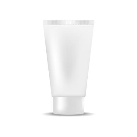 cream tube: White blank tube of cream, gel. Mock up, cosmetic package