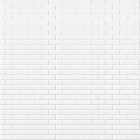 blanco: Blanco pared de ladrillo de fondo realista ilustración vectorial