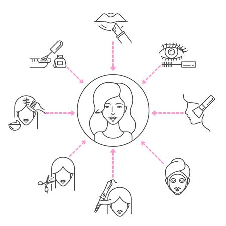 Beauty salon services vector illustration