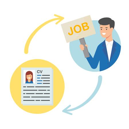Job offer vector illustration