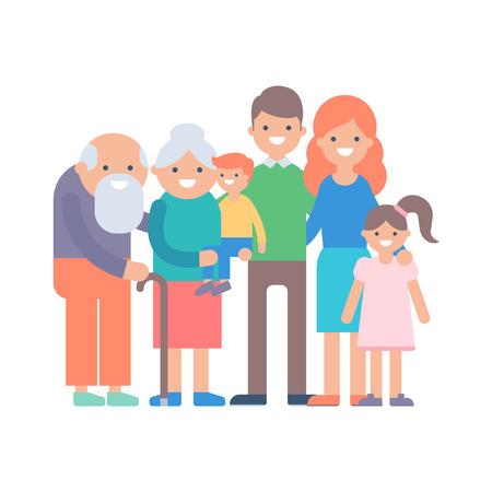 Family vector illustration Иллюстрация