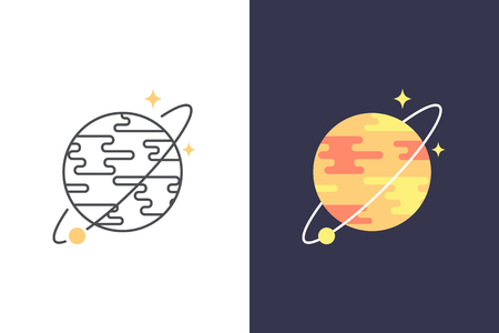 internet business: Planet vector icon and logo