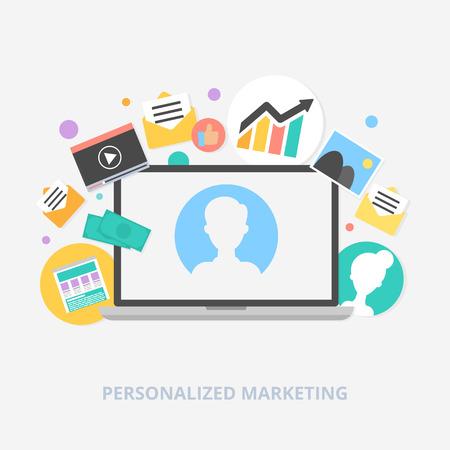 Personalized marketing vector illustration Illustration