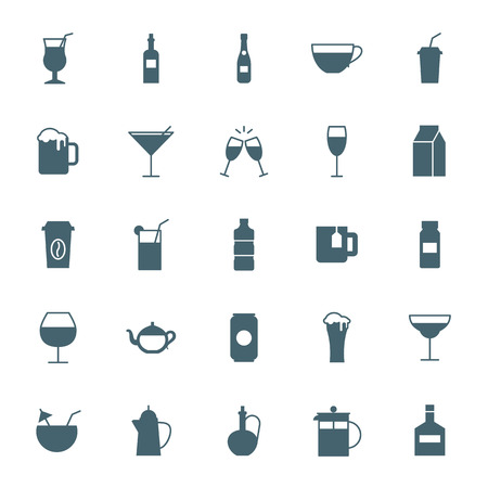 squeezer: Drinks silhouettes icons