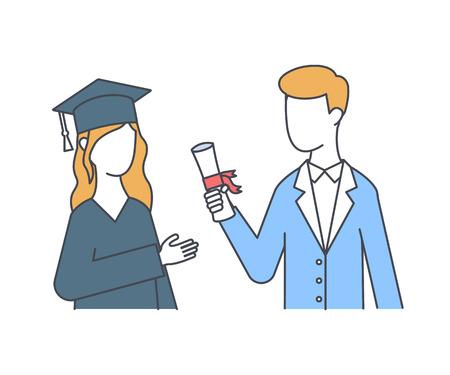 Graduations vector illustration