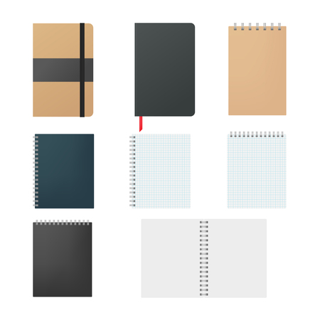 Set of notepads 矢量图像